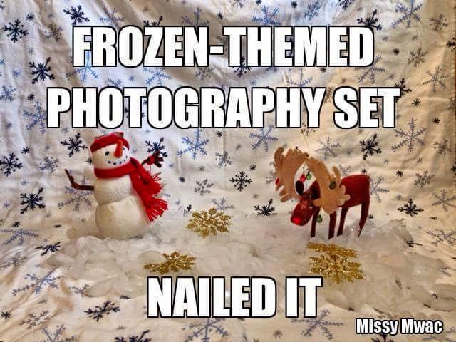 frozen themed photography set